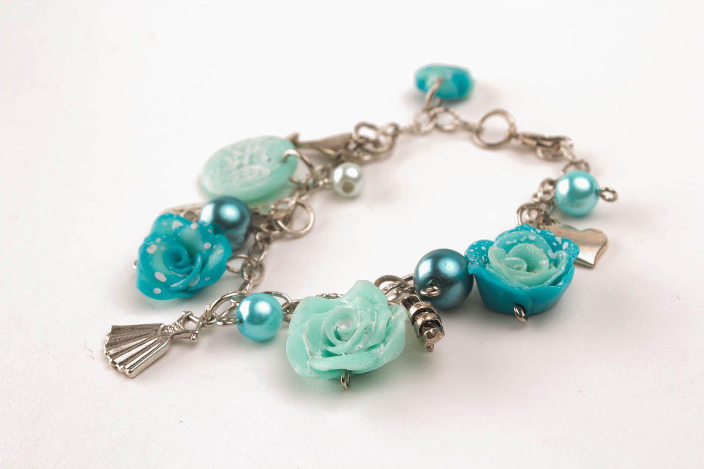 Wrist bracelet Blue Roses photo 1