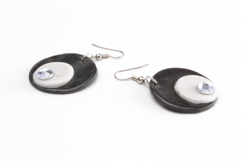 Unusual plastic earrings  photo 3