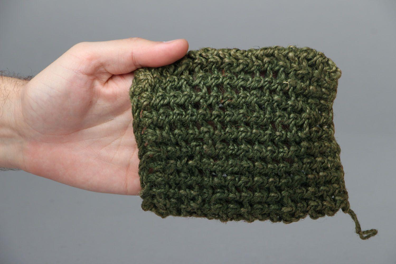 Jute crochet body scrubber  photo 4