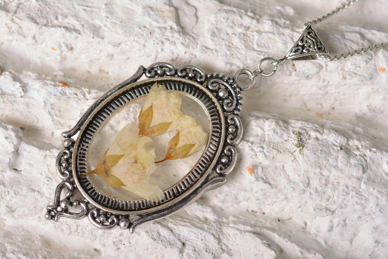 Handmade jewelry botanic pendant flower pendant accessories for girls photo 2