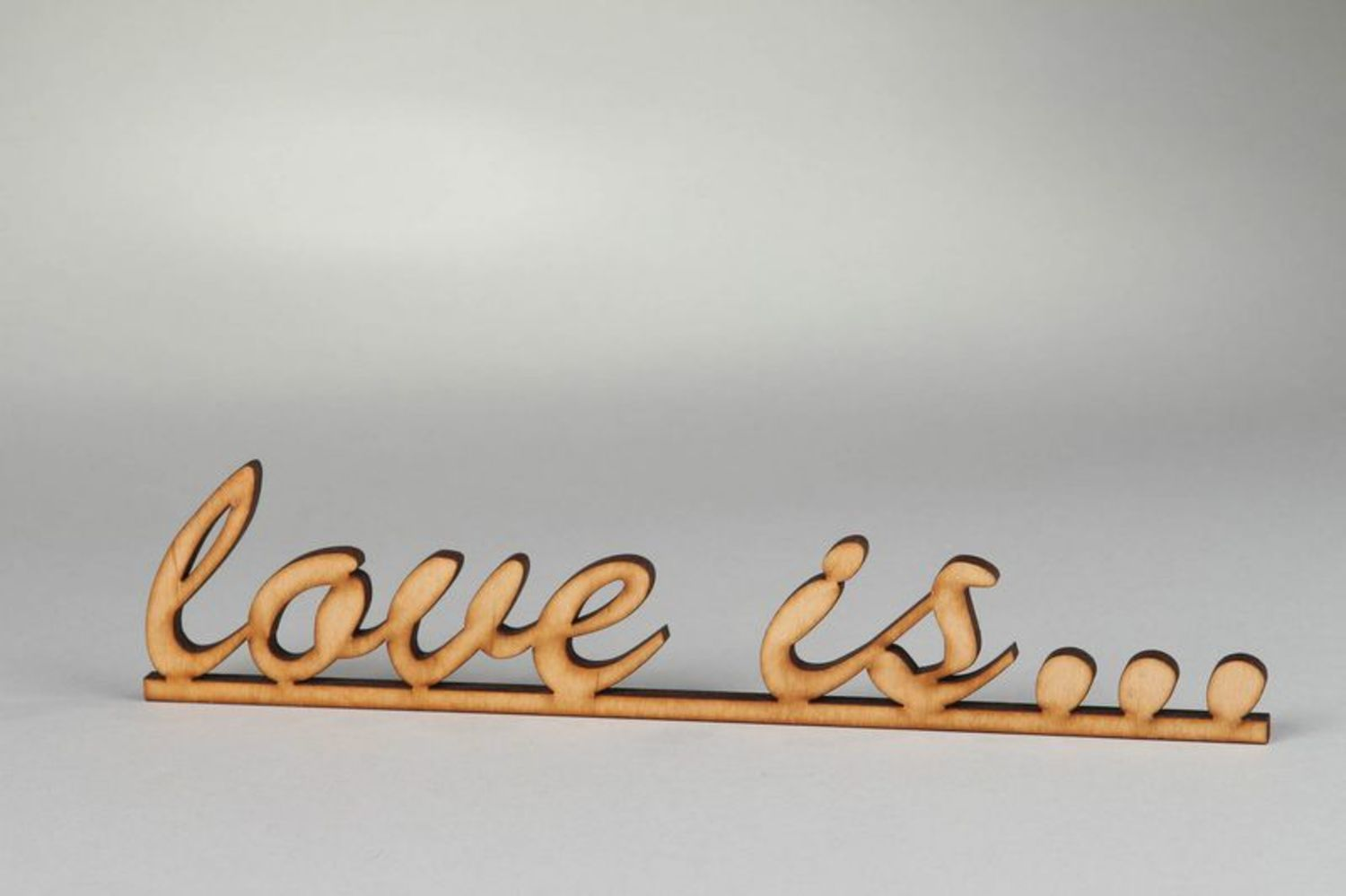 Chipboard lettering Love is... photo 3