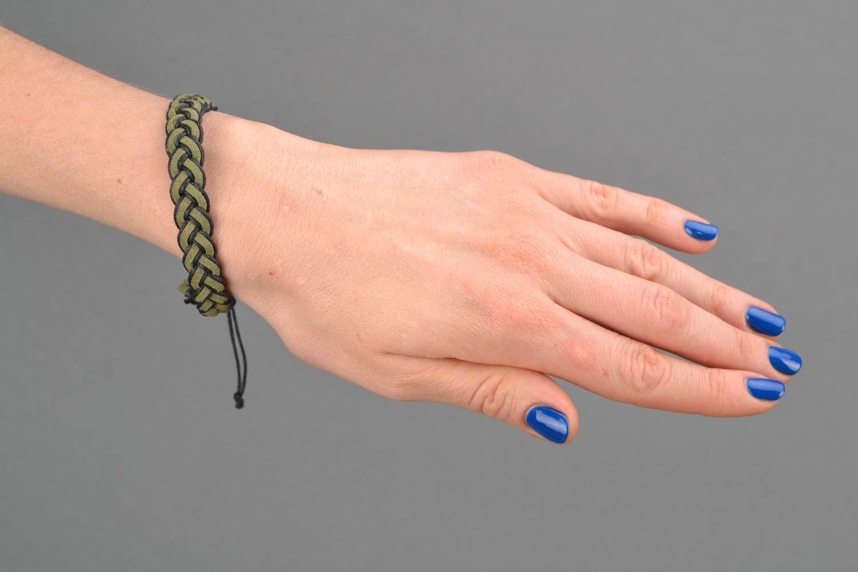 Grünes Armband aus Wildleder foto 2