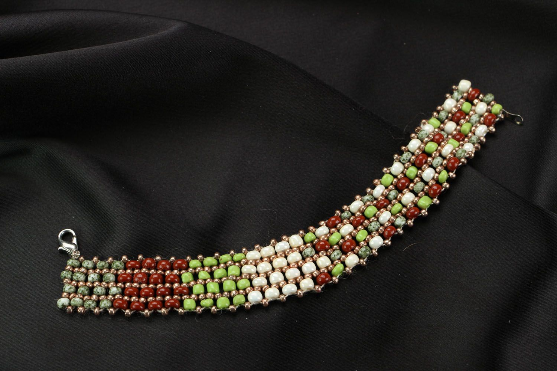 Woven bead bracelet photo 1