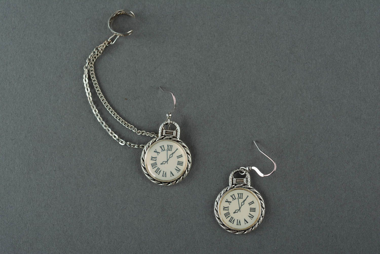 Cuff earrings Clock photo 2