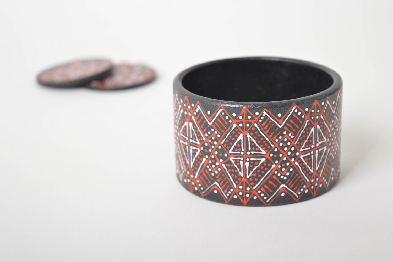 Handmade lovely earrings stylish cute jewelry unusual designer bracelet  photo 4