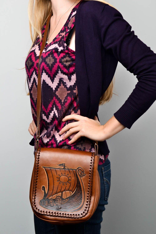 dcc92e76dc24 cумки женские Удобная сумка ручной работы сумка через плечо Корабль кожаная  сумка красивая - MADEheart.