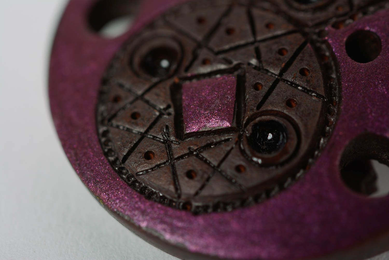 dangle earrings Handmade bright women's clay dangle earrings painted with enamel - MADEheart.com