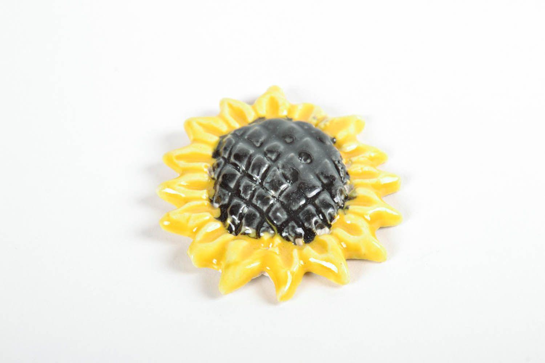 Fridge magnet in the form of sunflower photo 3