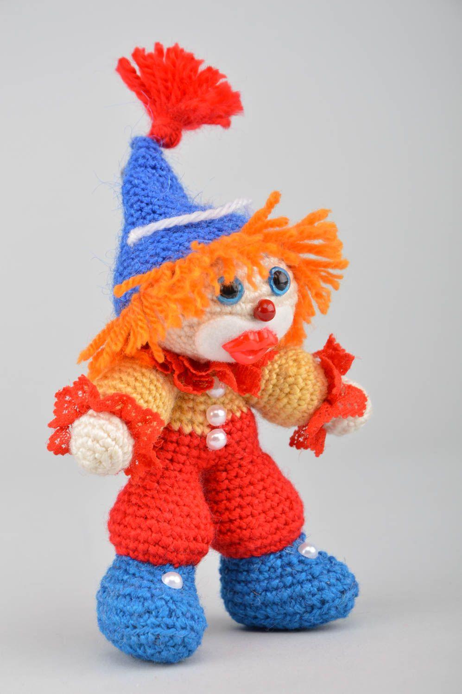 Вязаная игрушка клоун,  Вязаные игрушки