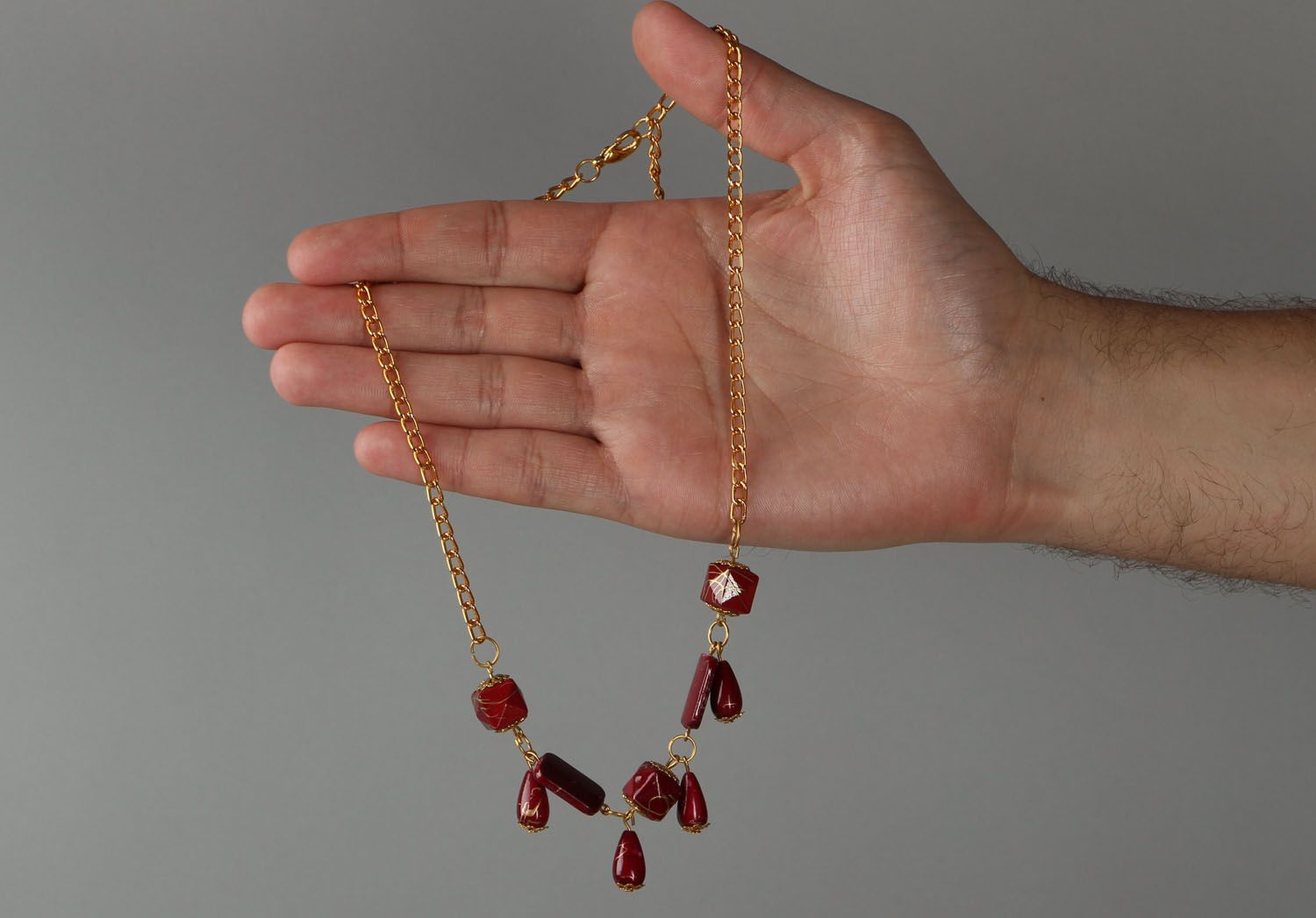 Necklace with beads photo 4