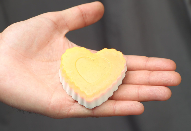 Homemade soap with cinnamon Heart photo 3
