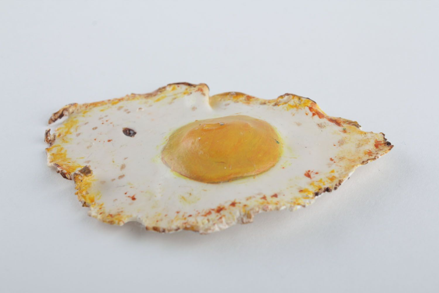 Homemade fridge magnet in the shape of fried eggs photo 4