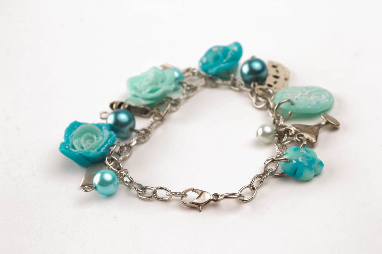 Wrist bracelet Blue Roses photo 2