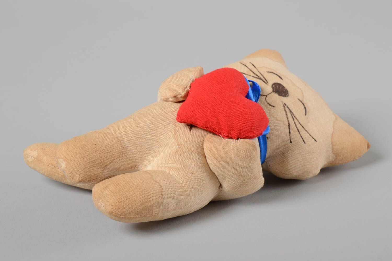 Unusual handmade fabric soft toy textile stuffed toy rag doll home design photo 5
