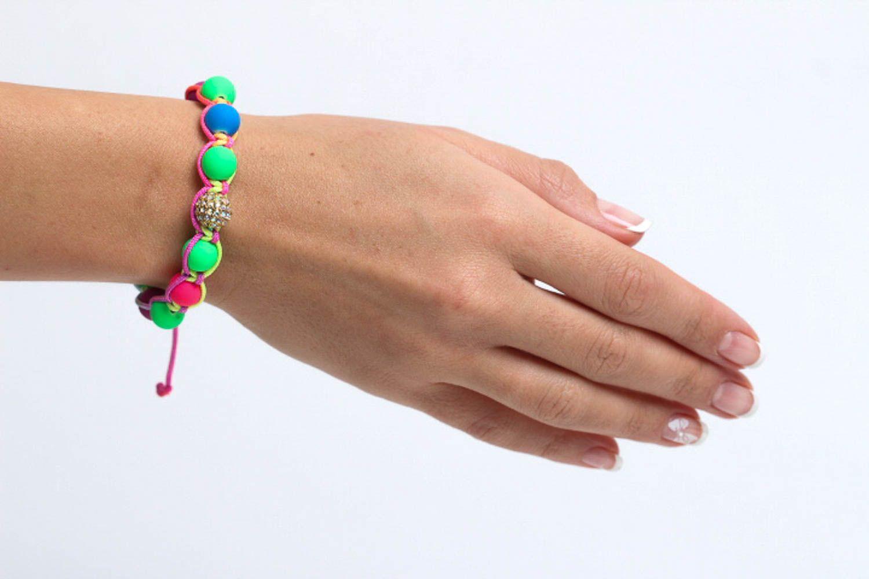 Handmade beaded bracelet summer bracelet interesting jewelry stylish accessories photo 5