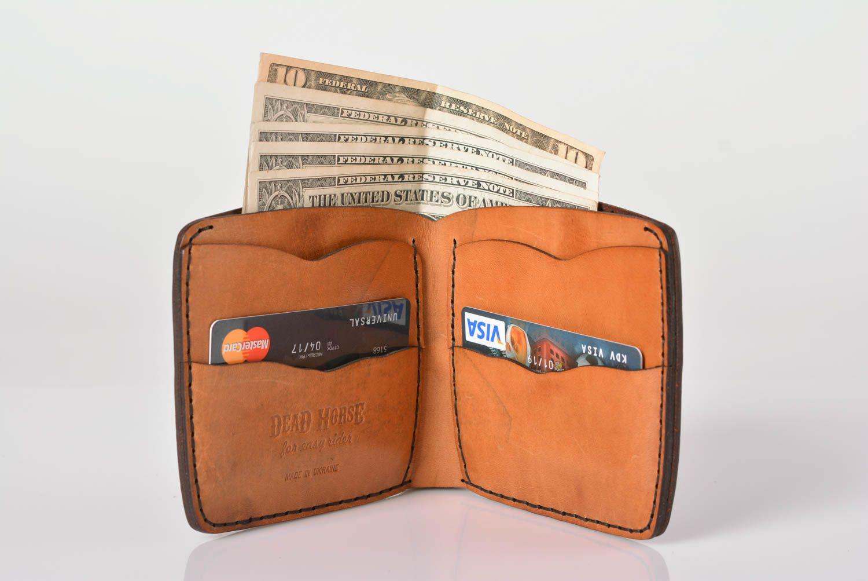49d9ad737fad porte-monnaie Portefeuille en cuir fait main Maroquinerie Cadeau original  brun avec gravure - MADEheart