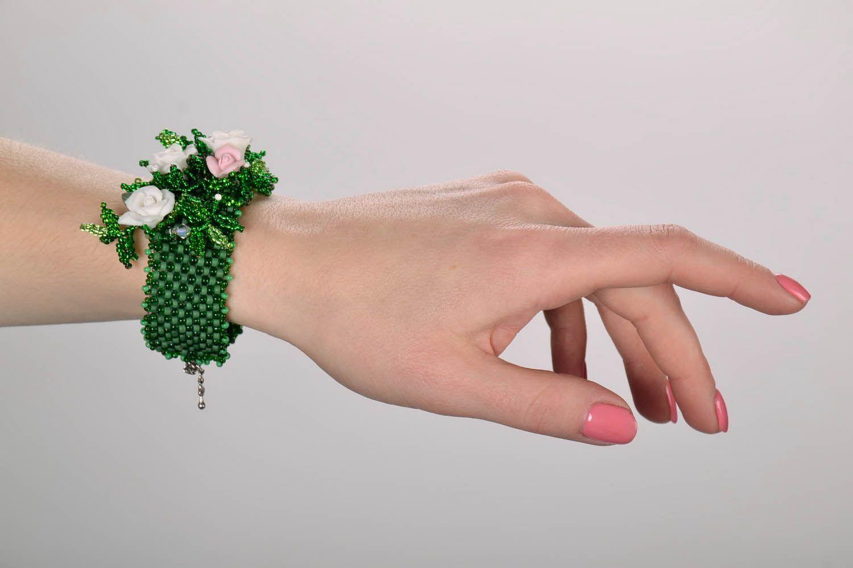 Bracelet made of Czech beads photo 5