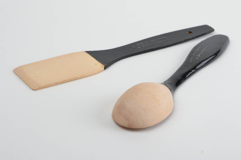 Madeheart cuchara y espatula hechos a mano utensilios de cocinar souvenirs originales - Utensilios de cocina originales ...