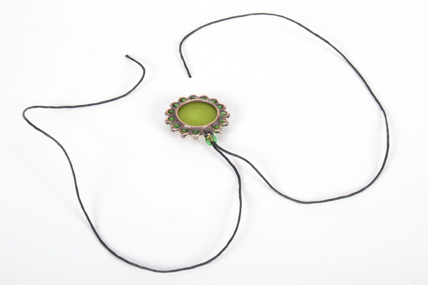 Stained-glass pendant Olive photo 3