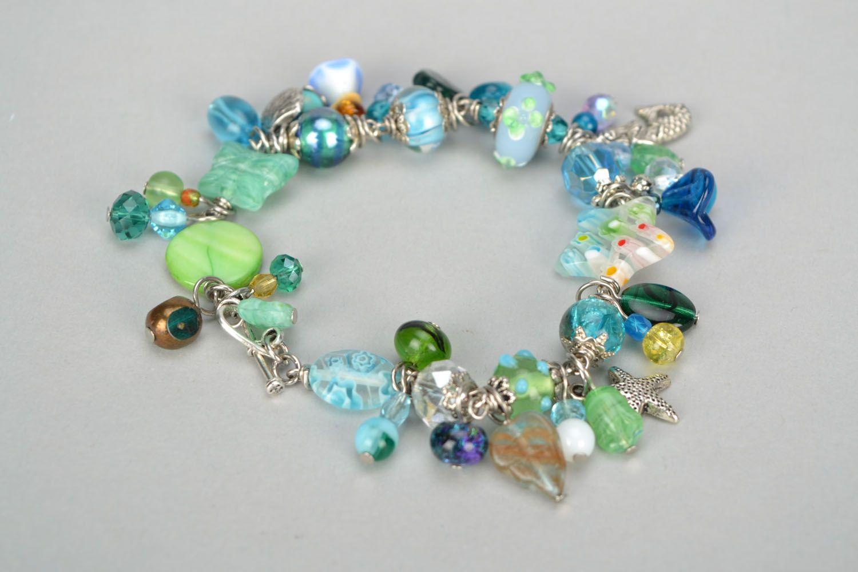Lampwork bracelet in marine style photo 6