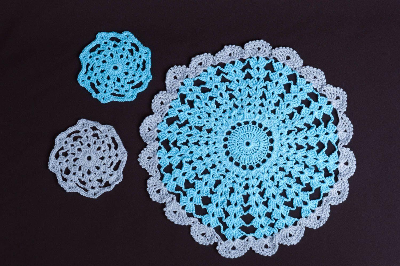 Madeheart servilletas tejidas a crochet hechas a mano for Decoracion hogar a crochet