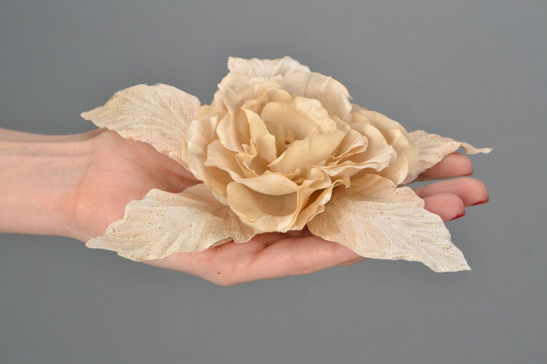 Fabric brooch Gardenia photo 2