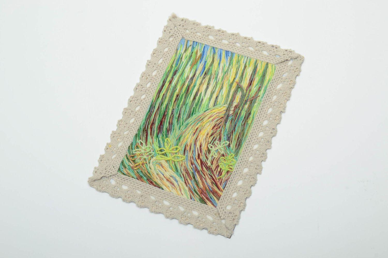 Satin stitch embroidered fridge magnet-picture photo 2