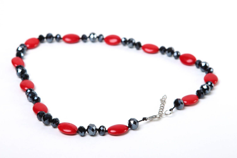 Halskette Frauen handgeschaffen Frauen Accessoire originell Perlen Schmuck foto 4