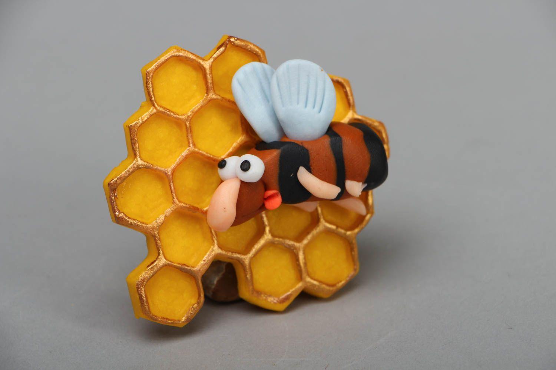 Decorative fridge magnet Bee photo 1
