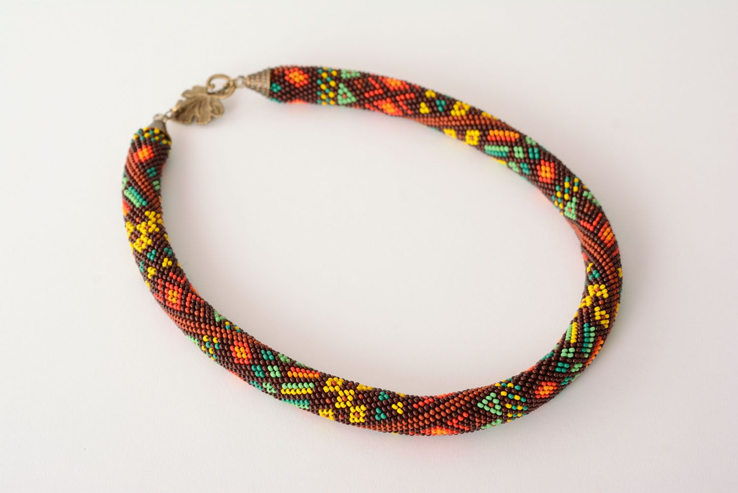 Beaded cord necklace photo 3