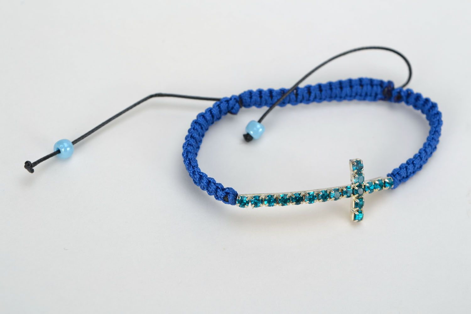 Homemade bracelet with crucifix photo 3
