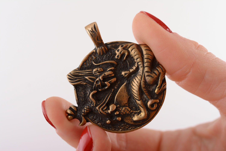 Bronze pendant Yin and Yang Tiger  photo 4