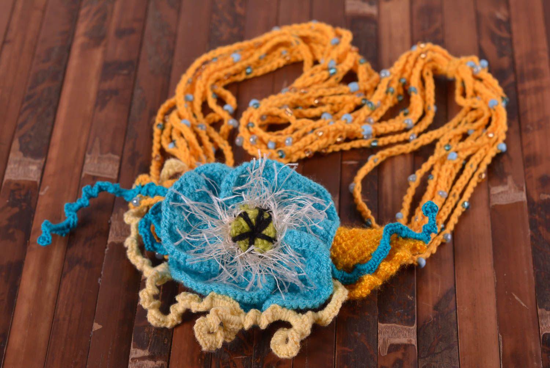 Украшения из ниток для вязания