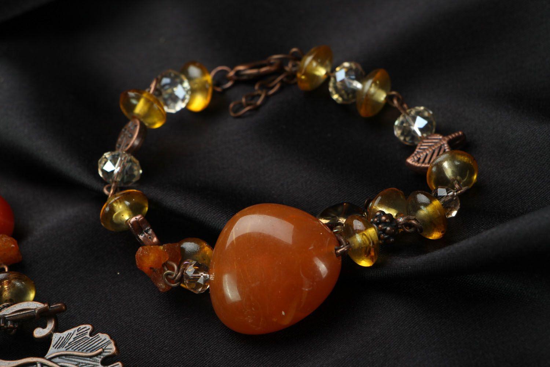 Amber jewelry set photo 3