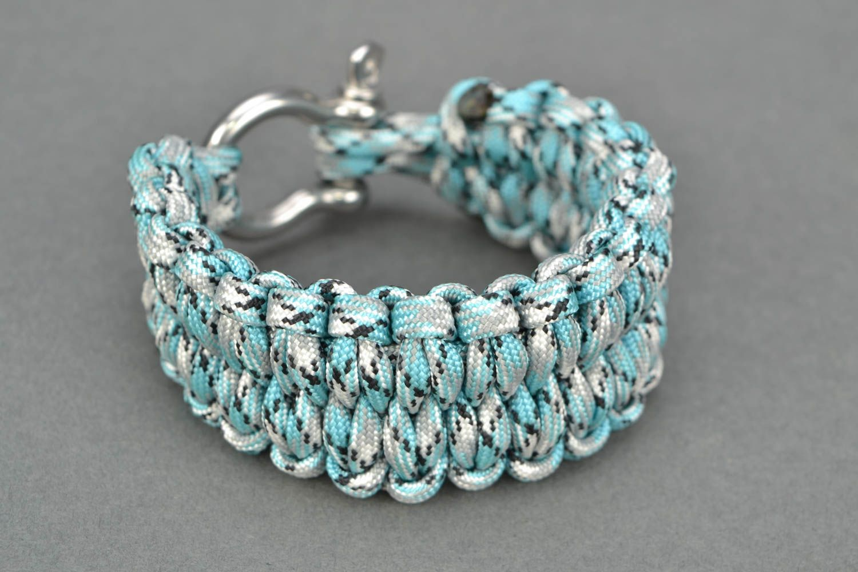 Blue woven bracelet photo 3