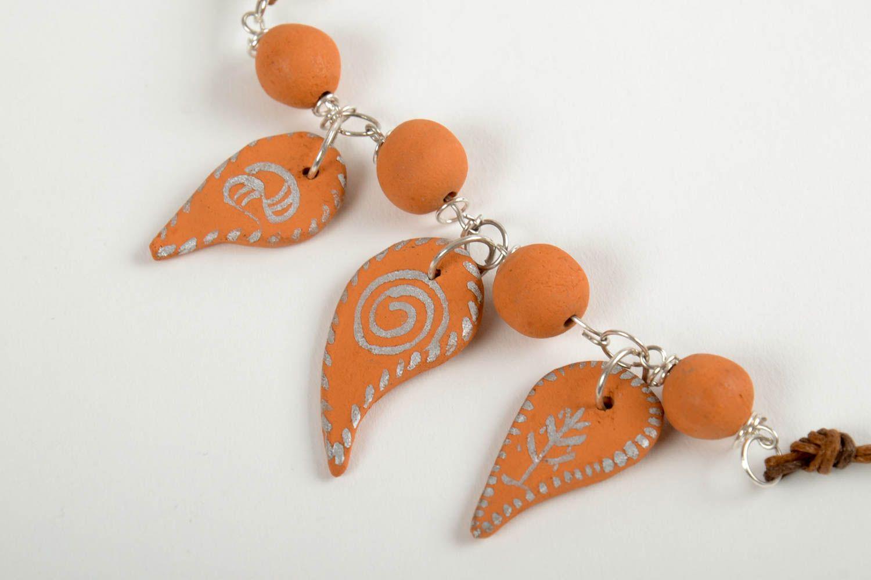 Handmade beaded necklace ceramic beautiful necklace female cute presents photo 4