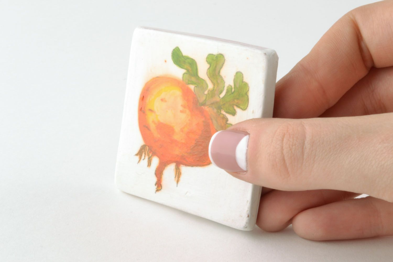 Homemade ceramic fridge magnet photo 2