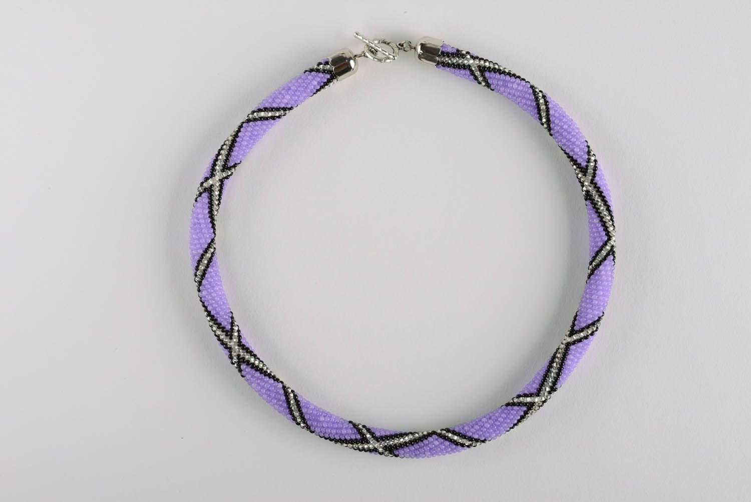 Purple beaded cord photo 4