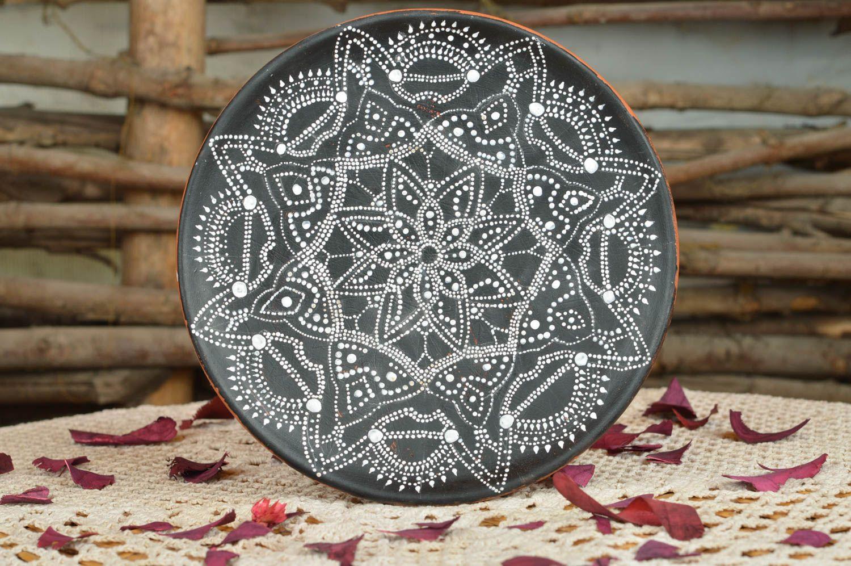 Черная тарелка для росписи