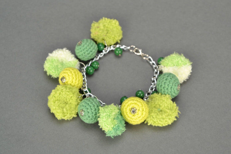 Homemade crochet jewelry set Jade photo 4