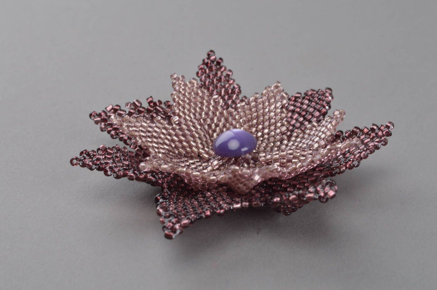 7ae9a8635c0 abstraction brooches Purple handmade brooch seed bead accessory flower  brooch women's accessory - MADEheart.com