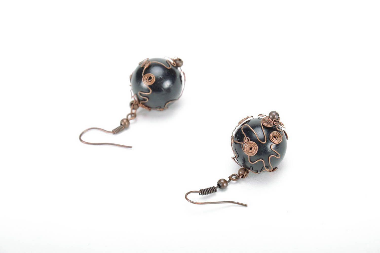 Copper earrings  photo 2