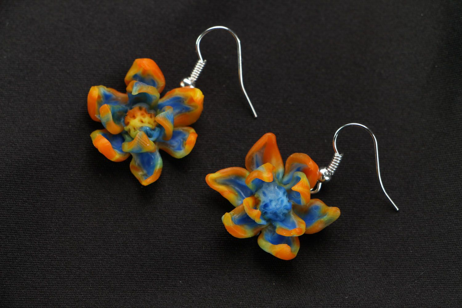 Polymer clay earrings photo 1