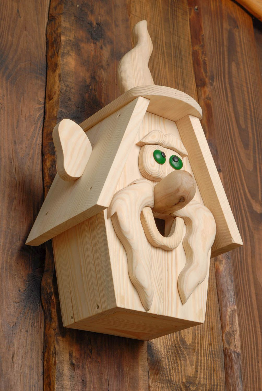 Nichoir en bois de pin fait main décoration extérieure originale Gardien de feu 339785778 - BUY ...