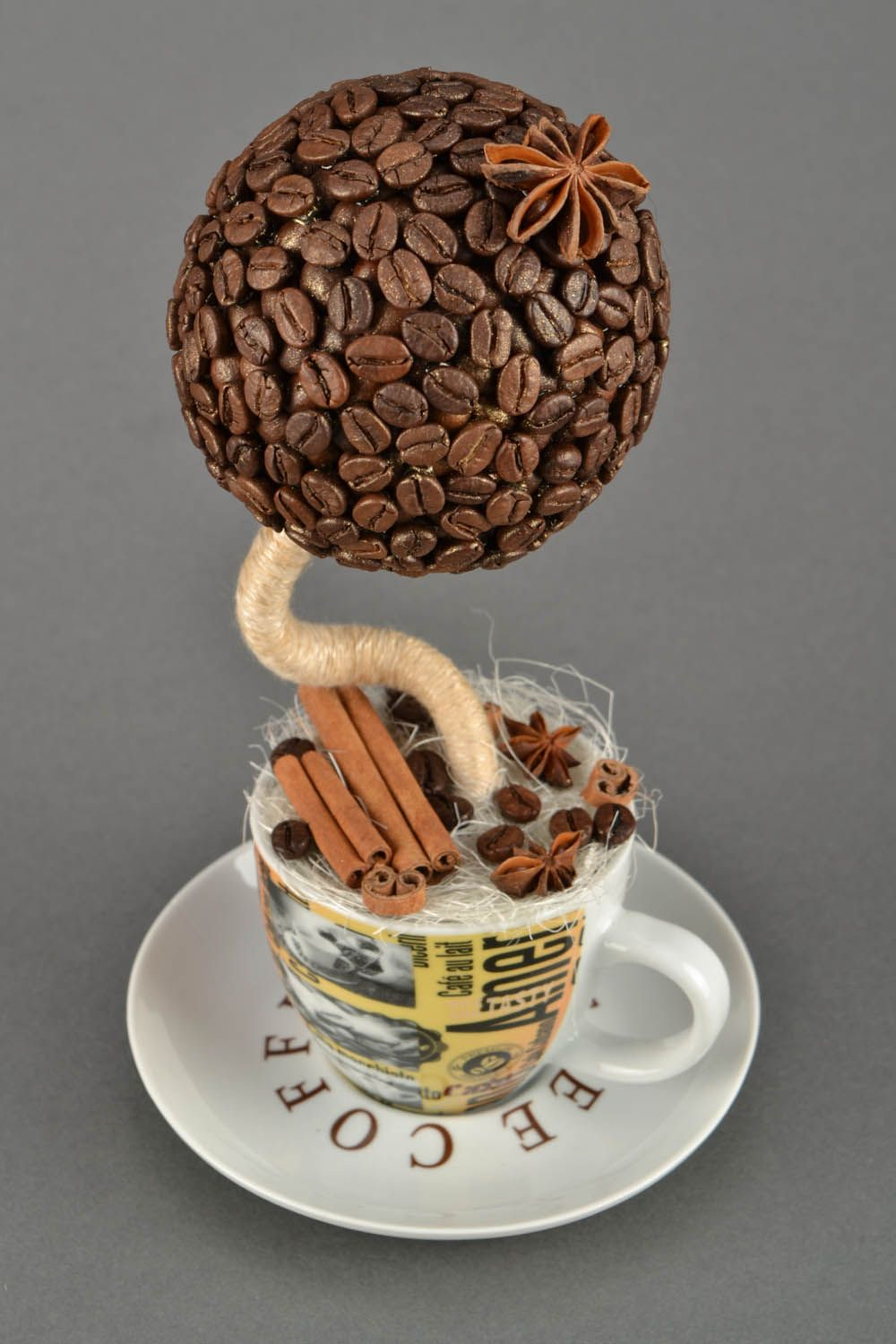 Coffee topiary in a cup photo 1