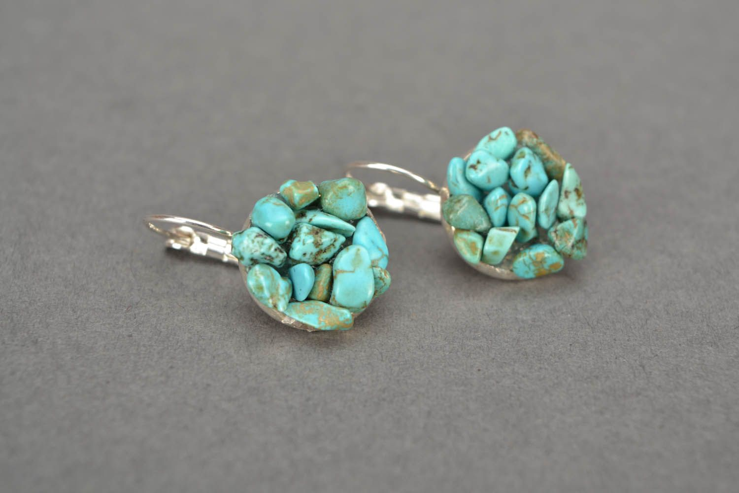 Handmade turquoise earrings photo 3