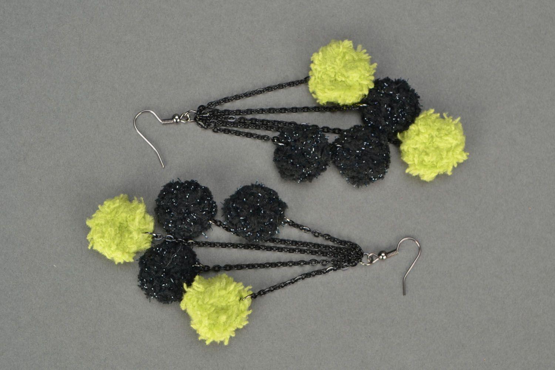Crochet earrings Balls photo 3