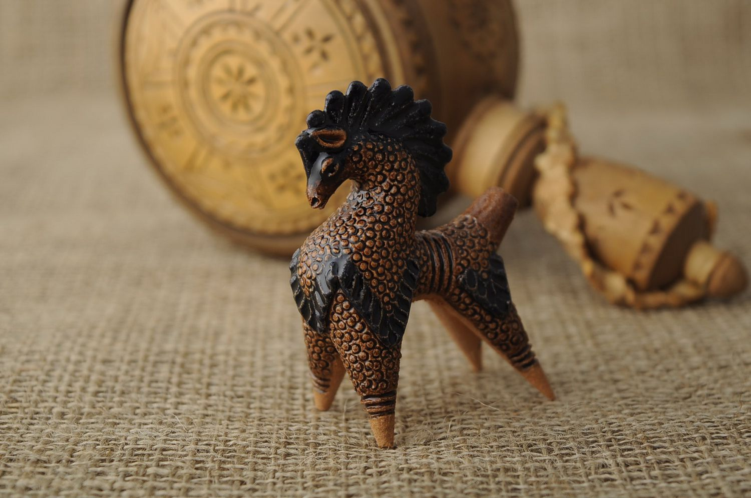 Clay horse penny whistle photo 1