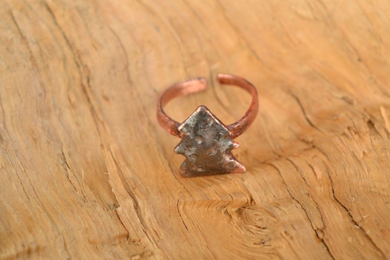 Kleiner Ring aus Kupfer Tannenbaum foto 1