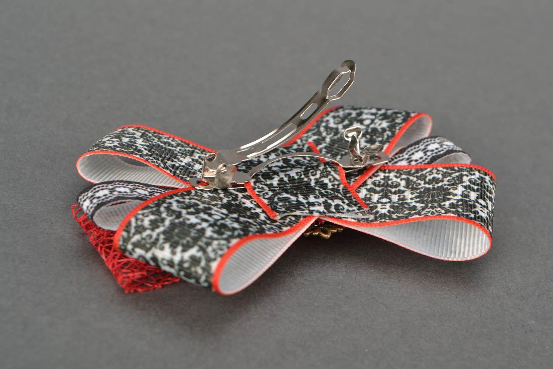 Hair clip Bow with Camellia photo 4